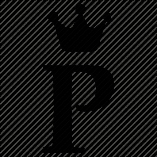 Alphabet, Crown, English, Letter, P, Royal Icon