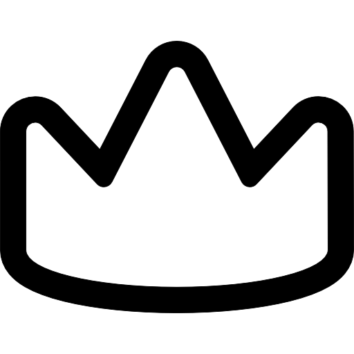 Royalty Outlined Crown Icons Free Download