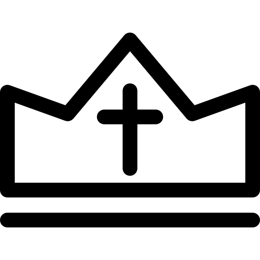 Religion Crown Outline Icons Free Download
