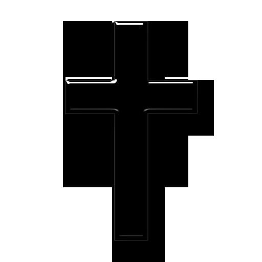 Black White Cross Religion Icons Tranpsarent