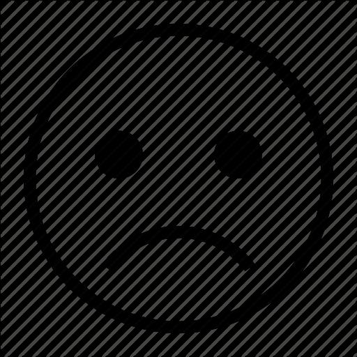 Emoji, Emoticon, Miserable, Sad, Unhappy, Unsatisfied Icon