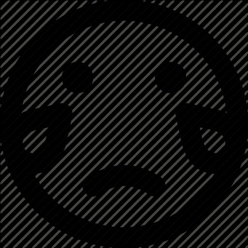 Crying, Emoji, Emoticons, Face Icon
