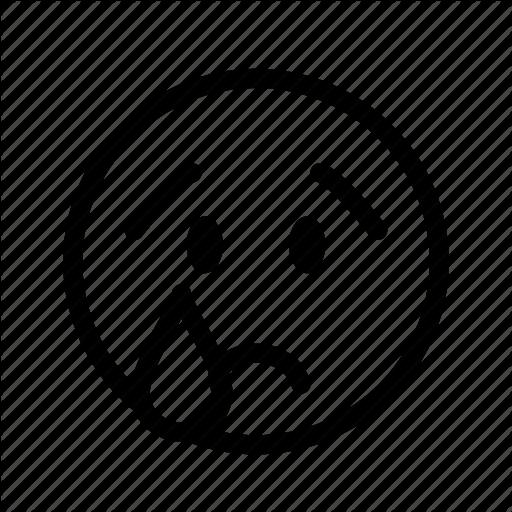 Crying, Depressed, Distressed, Emoji, Emoticon, Sad, Tear Icon