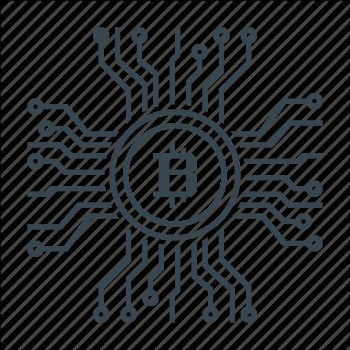 Bitcoin, Blockchain, Cryptocurrency, Digital, Valuta Icon