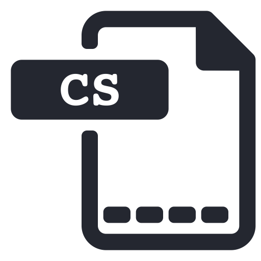 Cs, Extension, File, Program, Programming Icon
