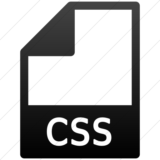 Simple Black Gradient Mime Types Document Css Icon