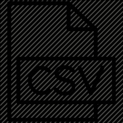 Text Csv Icon Free Icons