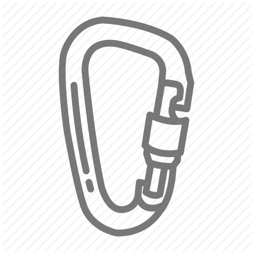 Carabiner, Climb, Clip, Hang, Hook, Metal, Scout Icon