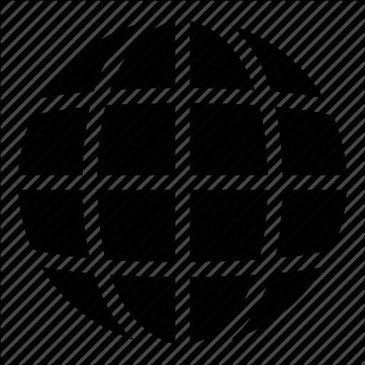 Earth, Earth Globe, Earth Grid, Globe, Grid World, Planet Icon