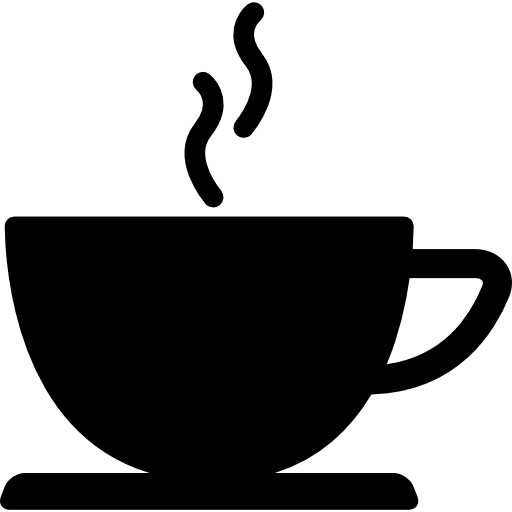 Coffee Cup Of Hot Drink Black Silhouette Icons Free Download