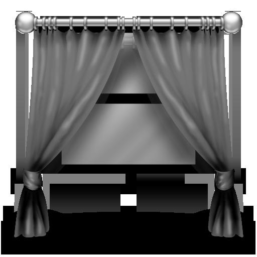 Grey Curtains Icon