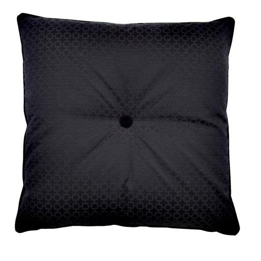 Black Square Cushion