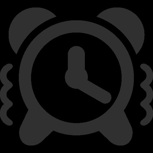 Alert Clock Icon Mono Business Custom Icon Design