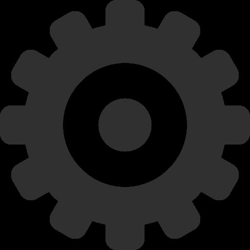 Settings Icon Mono General Iconset Custom Design Logo Image