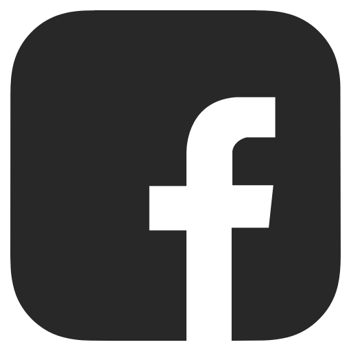 Black And White, Dark Grey, Facebook Icon
