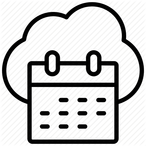 Calender, Cloud, Pixel Icon Pack Icon