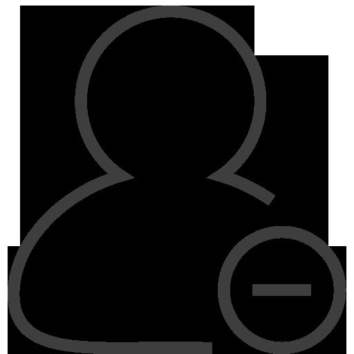 Remove Icon Silky Line User Custom Icon Design