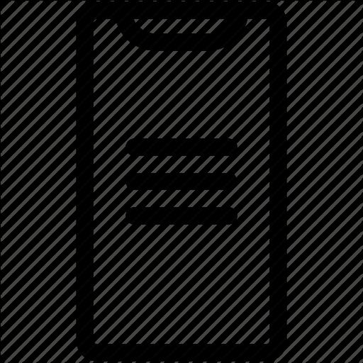 Iphone Menu, Iphone X, List, Menu Icon