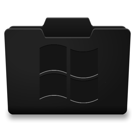 Black Folder Icons Windows Images