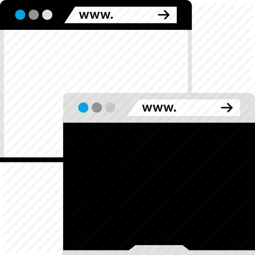 Double, Internet, Online, Stack, Web, Windows Icon