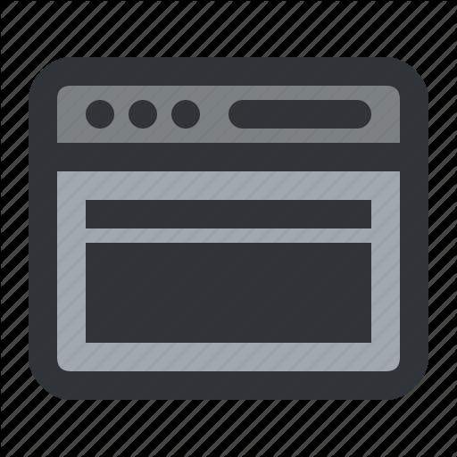 Browser, Column, Full, Interface, Width, Window Icon