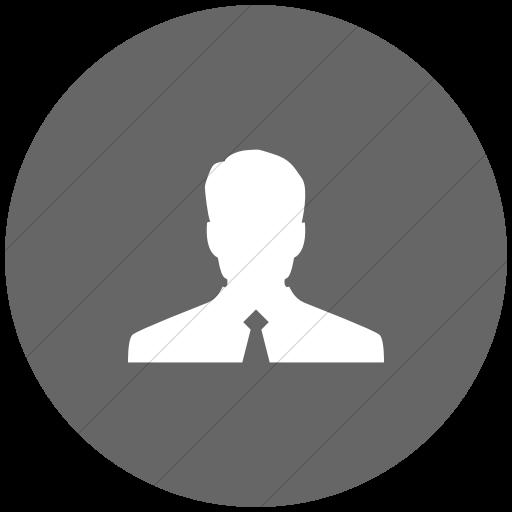 Flat Circle White On Gray Raphael Customer Icon