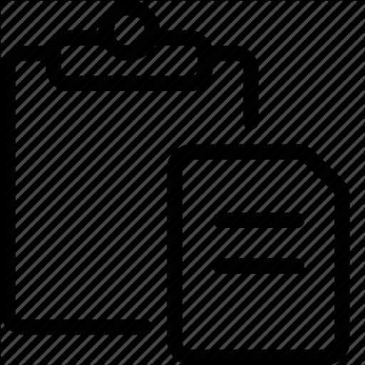 Clipboard, Copy, Cut, Paste Icon