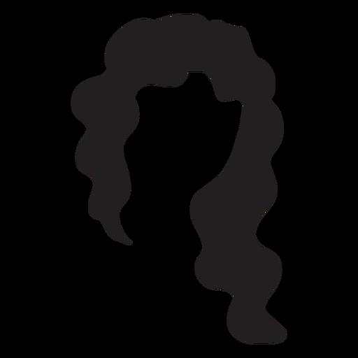 Asymmetric Cut Hair Silhouette