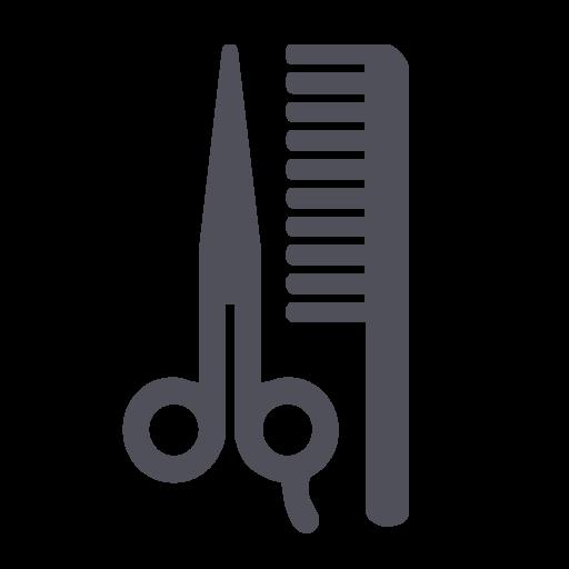 Brush, Salon, Beauty, Cut, Scissor, Style, Hairdresser Icon