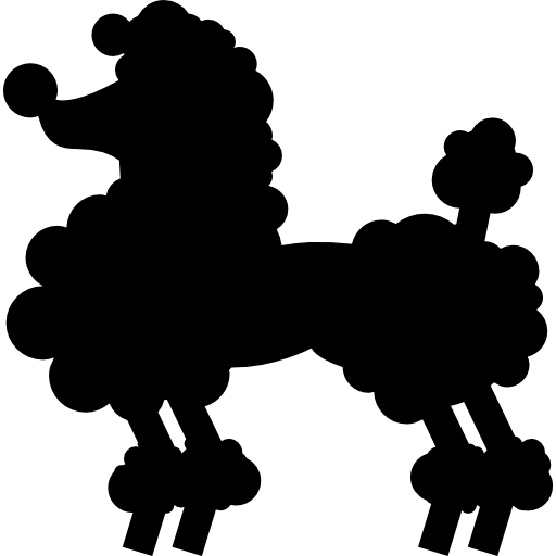 Cute Dog Silhouette Icons Free Download