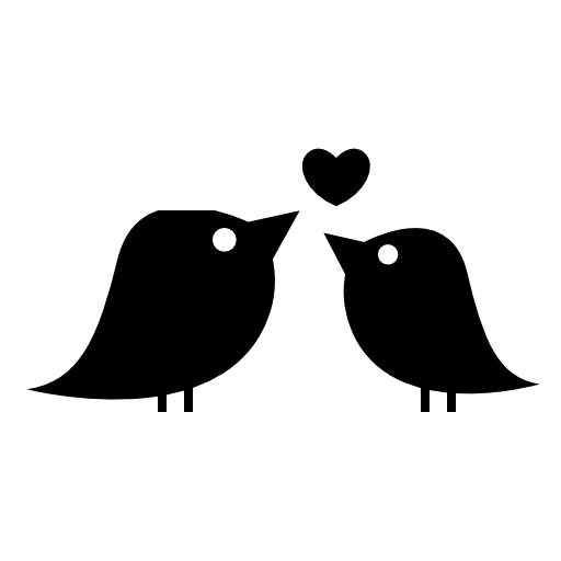 Love Birds And A Heart Shaped Icon Download Free Icons