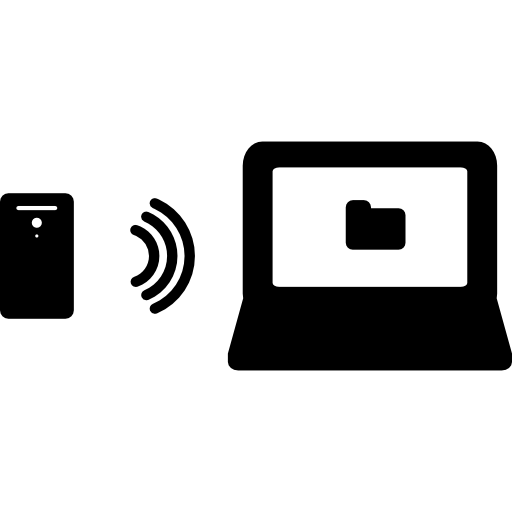 Phone Transmission To A Laptop Folder Icons Free Download
