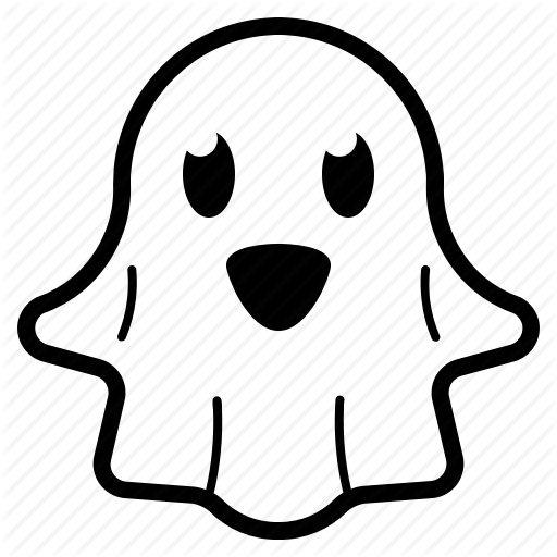 Character, Cute, Ghost, Halloween Icon