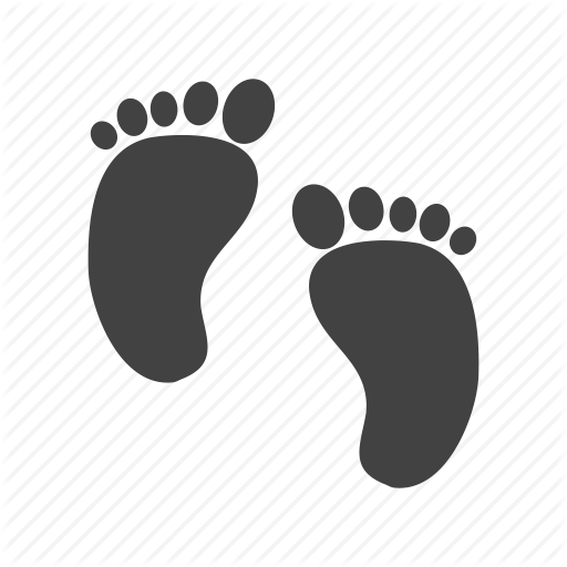 Baby Child Childhood Cute Feet Newborn Small Icon Logo Image