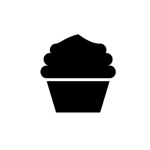 Cupcake Silhouette Free Icon Cricut Silhouette