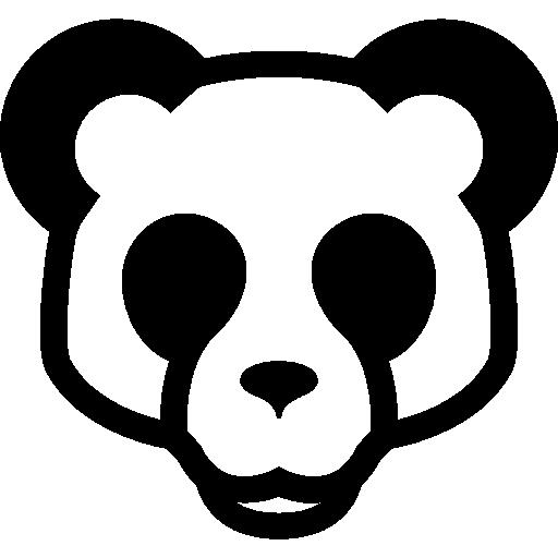 Panda Bear Face Front Icons Free Download