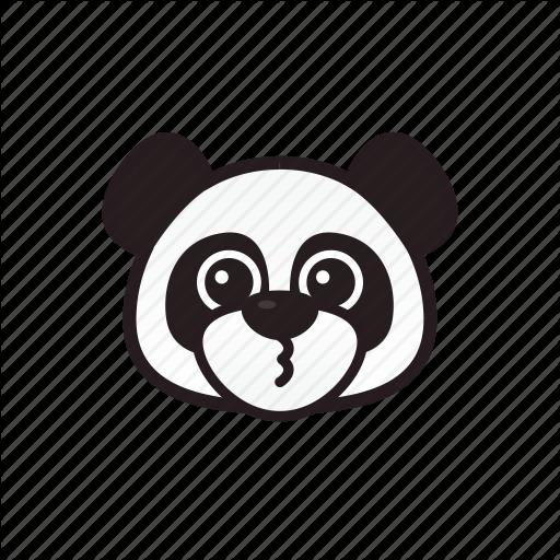 Cute, Emoticon, Panda, Smile Icon