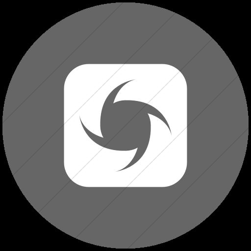 Flat Circle White On Gray Ocha Humanitarians Inverse