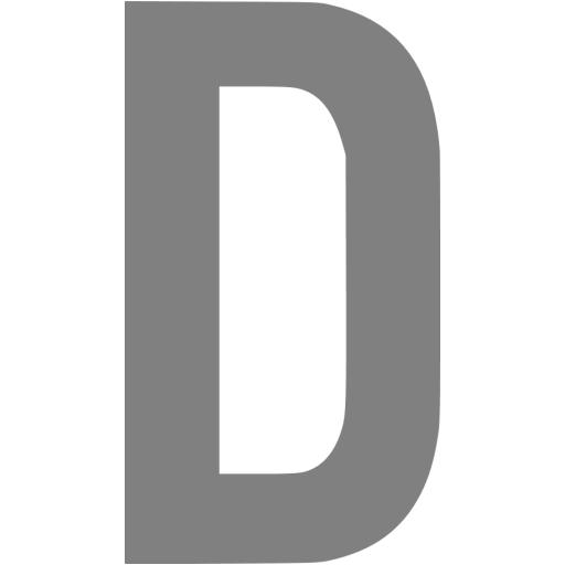 Gray Letter D Icon