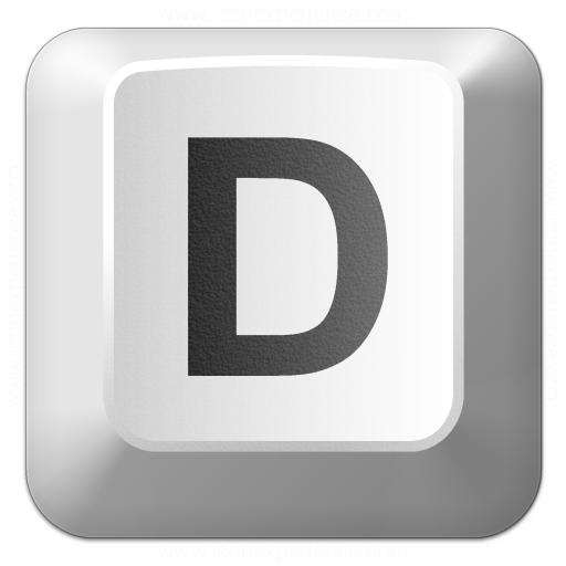 Iconexperience V Collection Keyboard Key D Icon