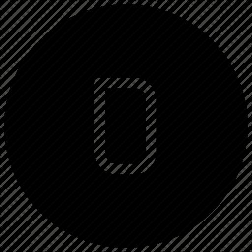 Alphabet, D Icon