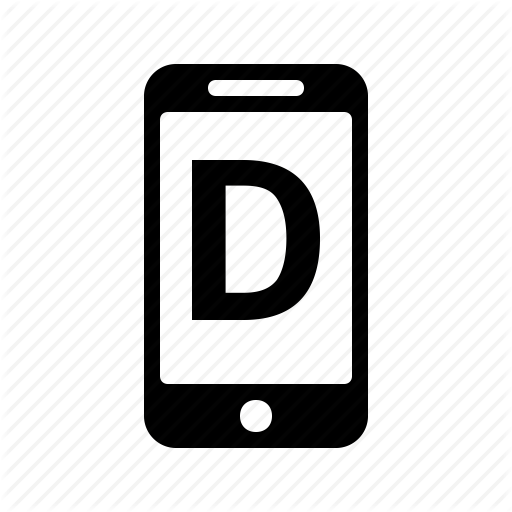 Alphabet, D, Letter, Phone, Smartphone, Text Icon