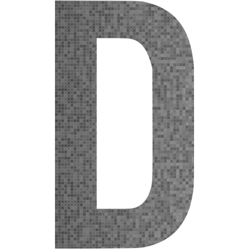 Custom Color Letter D Icon