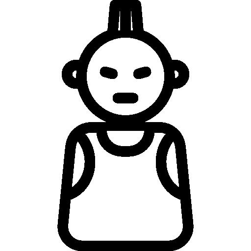 Punk, Helmet, Daft Icon