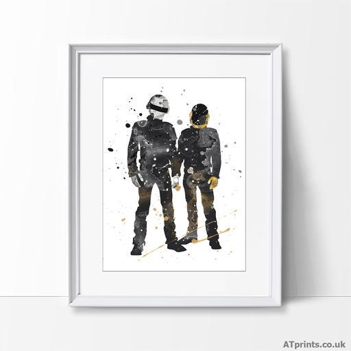 Watercolour Art Tagged Daft Punk Atprints