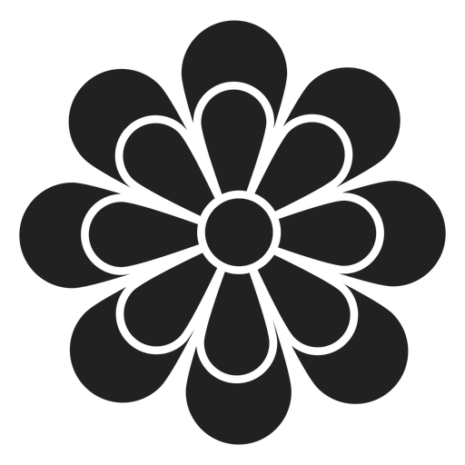 Simple Daisy Outline Icon