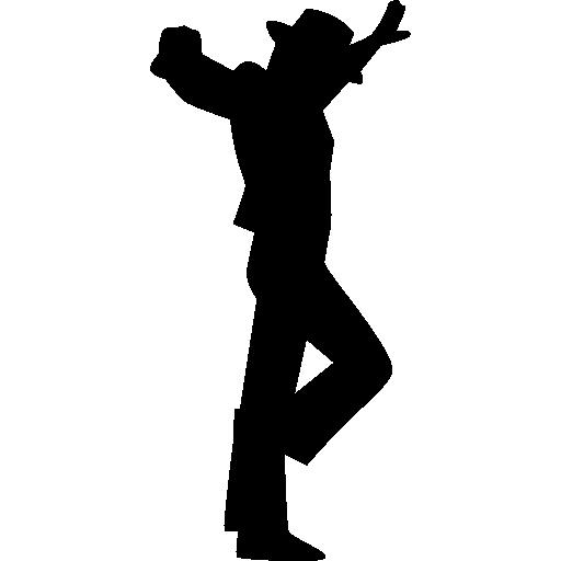 Flamenco Male Dancing Silhouette Icon