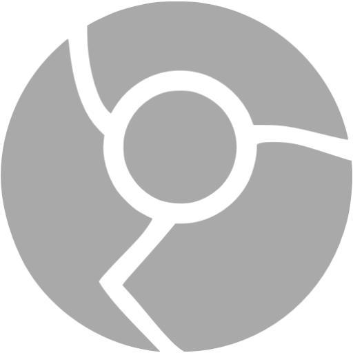 Dark Gray Chrome Icon