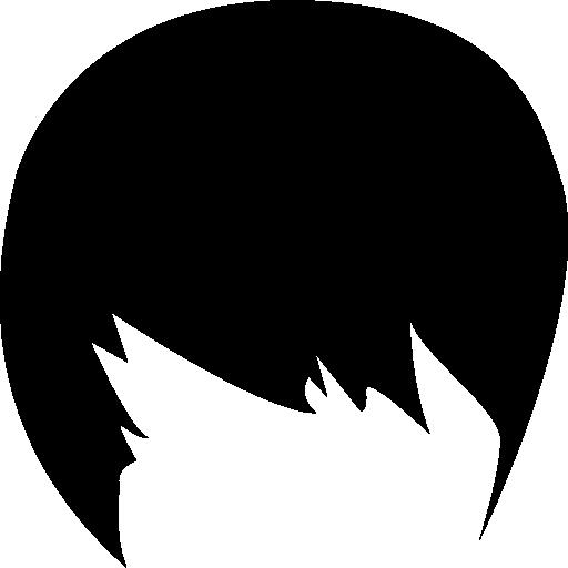 Male Dark Short Hair Shape Icons Free Download
