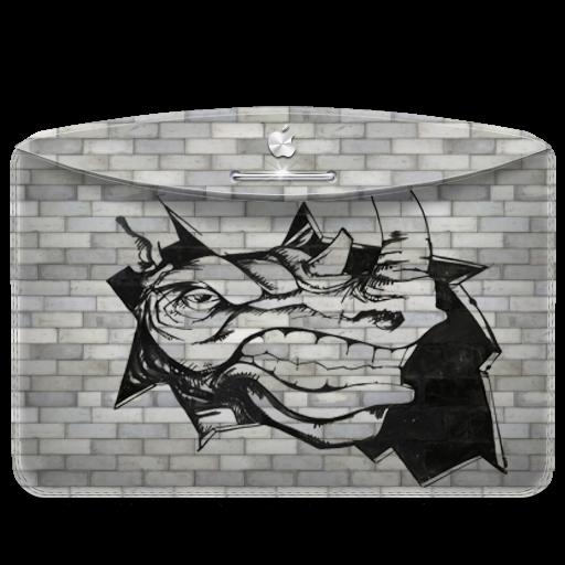Folder Graffiti Rhino Icon Darktheme Folder Iconset Emoopo